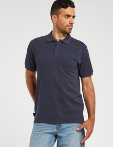 Chisel Ultimate Short-Sleeve Polo, Navy Marle product photo