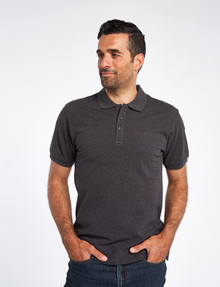 Chisel Ultimate Short-Sleeve Polo, Charcoal Marle product photo