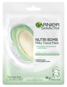 Garnier SkinActive Nutri Bomb Milky Tissue Mask, Almond Milk product photo