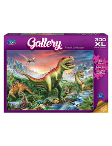 Puzzles Jurassic Landscape XL Jigsaw Puzzle, 300 Piece product photo