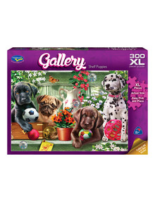 Puzzles Shelf Puppies XL Jigsaw Puzzle, 300 Piece product photo