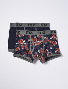 Mazzoni Open Front Trunk, 2-Pack, Floral & Navy product photo