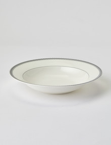 Amy Piper Leigh Rim Bowl, 23cm, White & Grey product photo