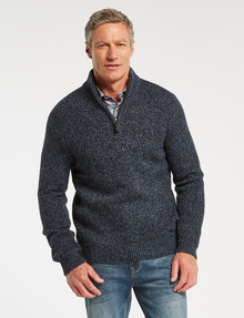 Chisel 1/4 Zip Textured Sweater, Blue Marle product photo