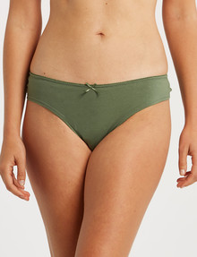 Lyric Cotton Lace Back Bikini Brief, Sage product photo