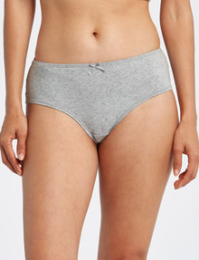 Lyric Cotton with Lace Trim Cheeky Boyleg Brief, Grey Marl product photo