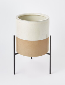 M&Co Lloyd Planter with Base, Small product photo