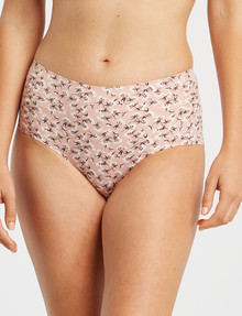 Lyric Laser Microfibre Full Brief, Coral Floral product photo