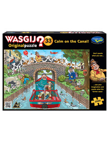 Wasgij Original 33, 1000-Piece Jigsaw, Calm On The Canal! product photo