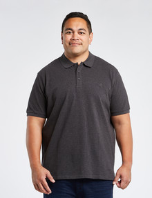 Chisel King Size Ultimate Short-Sleeve Polo, Charcoal Marle product photo