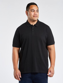 Chisel King Size Ultimate Short-Sleeve Polo, Black product photo