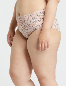 Lyric Curve Laser Microfibre Full Brief, Coral Floral product photo