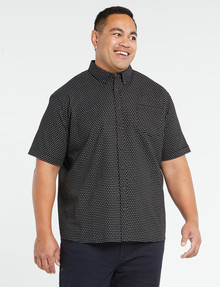 Chisel King Size Micro Print Short-Sleeve Shirt, Navy product photo