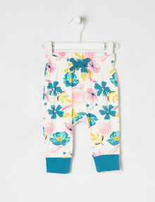 Teeny Weeny Flower Pant, Vanilla & Blue product photo