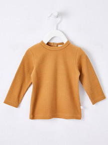 Teeny Weeny Rib Long-Sleeve Tee, Ochre product photo