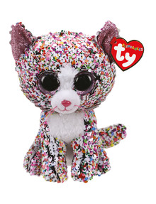 Ty Beanies Flippable Confetti Cat product photo