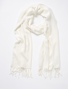 Boston & Bailey Essential Scarf, Ivory product photo