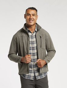 Kauri Trail Tucker Softshell Jacket, Grey Marle product photo