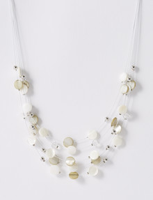 Whistle 5-Strand Shell & Glass Bead Wire Necklace product photo
