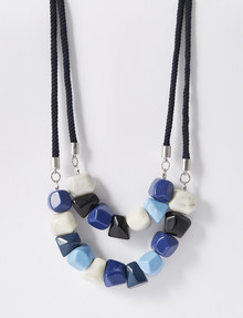 Whistle Irregular Shape Beads 2-Strand Statement Necklace product photo
