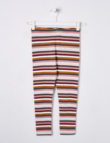 Mac & Ellie Striped Legging, Berry product photo