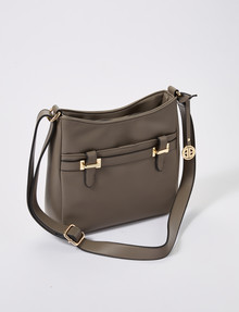 Boston & Bailey Enzo Large Cross-Body Bag, Taupe product photo