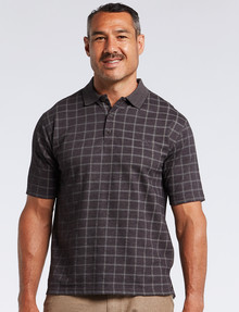 Logan Detto Short-Sleeve Polo, Charcoal product photo