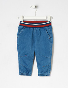 Teeny Weeny Knit Denim Pant, Blue product photo