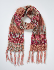 Mac & Ellie Multi-Colour Tassel Scarf product photo