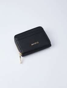 Whistle Zoe Small Zip-Around Wallet, Black product photo