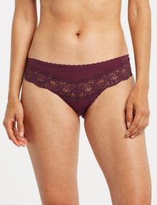 Perfects Be You Micro Brazilian Bikini Brief, Plum Pie product photo