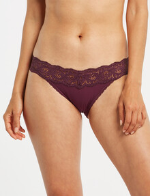 Perfects Be You Micro Tanga Brief, Plum Pie product photo
