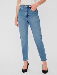 Vero Moda Joana High Rise Stretch Mom Jean, Blue product photo