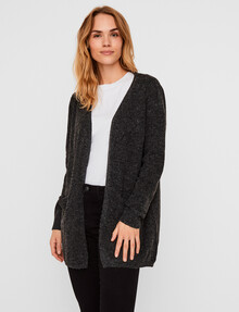 Vero Moda Doffy Long Sleeve Open Cardigan, Black product photo