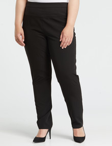 Studio Curve Slim-Leg Work Pant, Black product photo