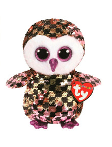 Ty Beanies Flippable Medium Checks Owl product photo