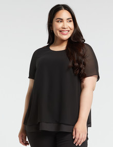 Studio Curve Double-Layer Top, Black product photo