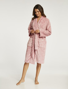 Whistle Sleep Fleece Robe, Pink Spot product photo