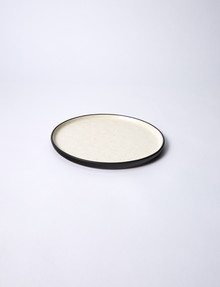 Amy Piper Minstral Side Plate, White & Black product photo