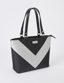 Pronta Moda V-Inset Shopper, Black product photo