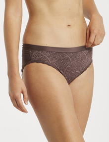 Berlei Barely There Lace Bikini Brief, Black Forest product photo