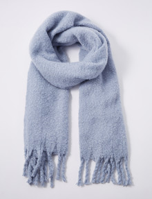 Whistle Plush Scarf, Light Blue product photo