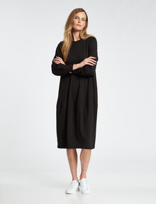 Jigsaw Hero Long-Sleeve Dress, Black product photo