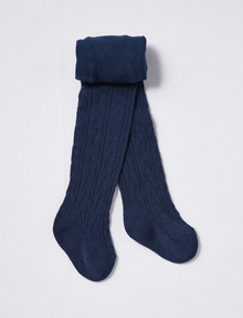 Simon De Winter Cable Tight, Navy product photo