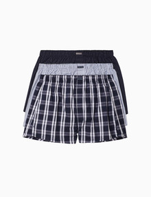Calvin Klein Cotton Classics Woven Boxers, 3-Pack product photo
