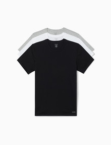 Calvin Klein Cotton Classics T-Shirt, 3-Pack, Black, White & Grey product photo