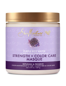 Shea Moisture Purple Rice Water Strength + Colour Care Masque, 227g product photo