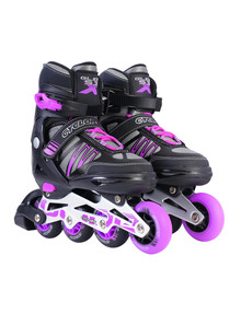 Cyclops Adjustable Inline Skates Black/Purple Size 3 - 6 product photo