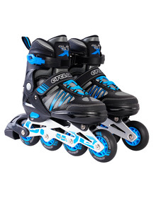 Cyclops Adjustable Inline Skates Black/Blue Size 3 - 6 product photo