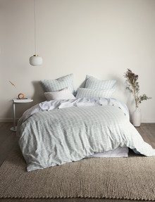 Domani Ilario Duvet Cover Set, Ocean Dew product photo